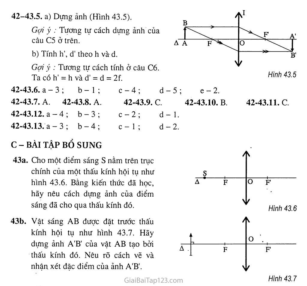 Bài 43: Ảnh của một vật tạo bởi thấu kính hội tụ trang 5