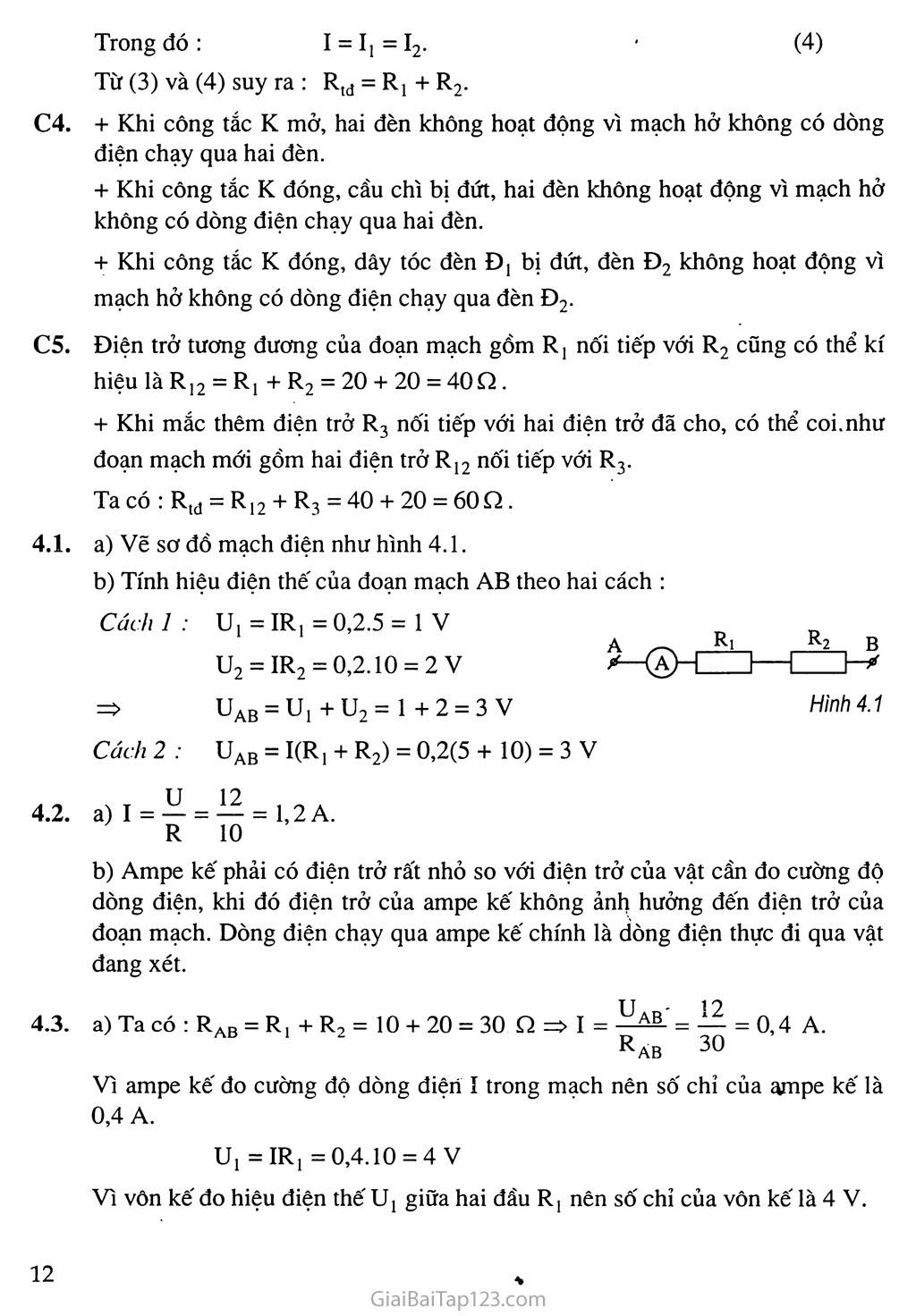 Bài 4: Đoạn mạch nối tiếp trang 2