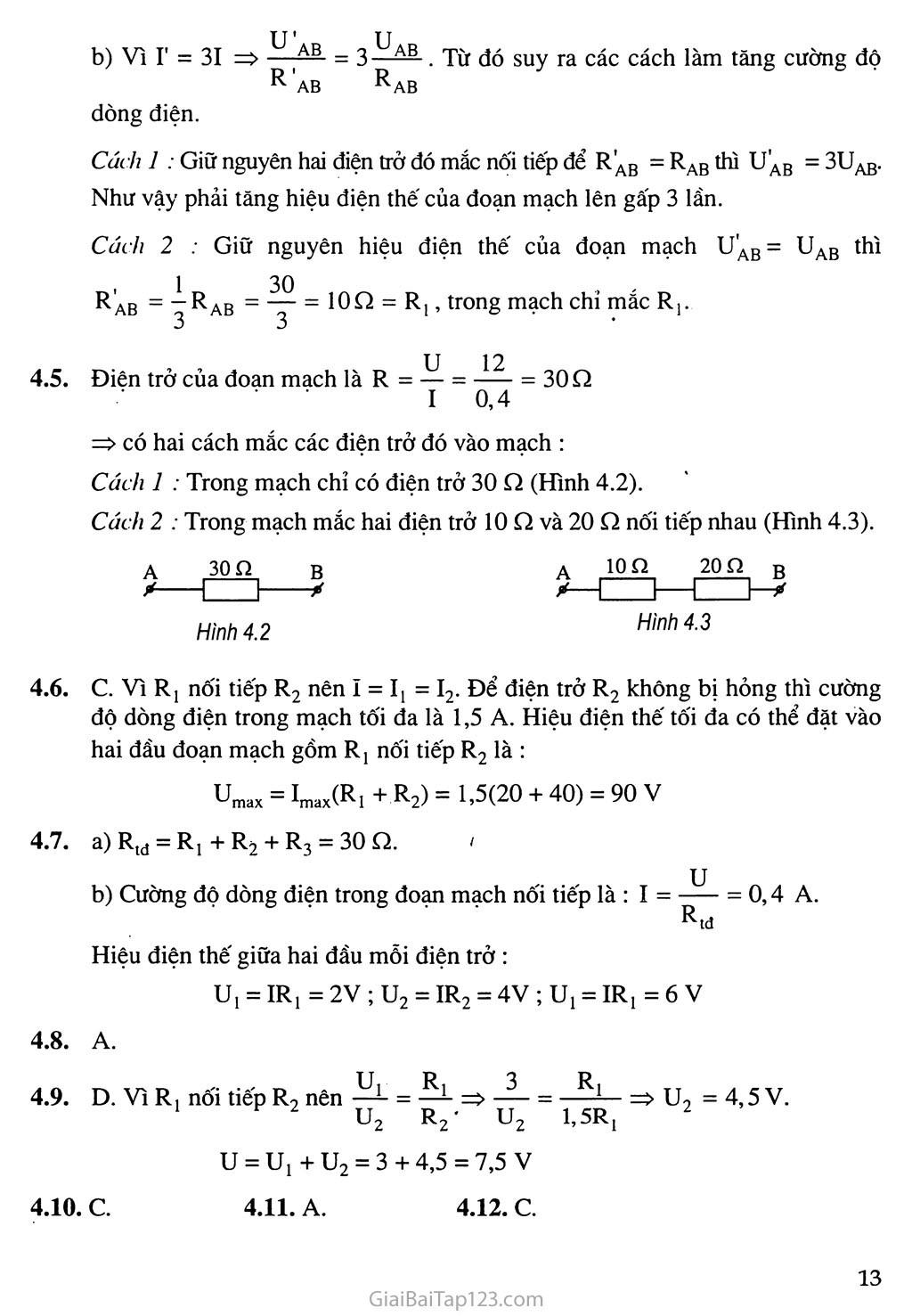 Bài 4: Đoạn mạch nối tiếp trang 3
