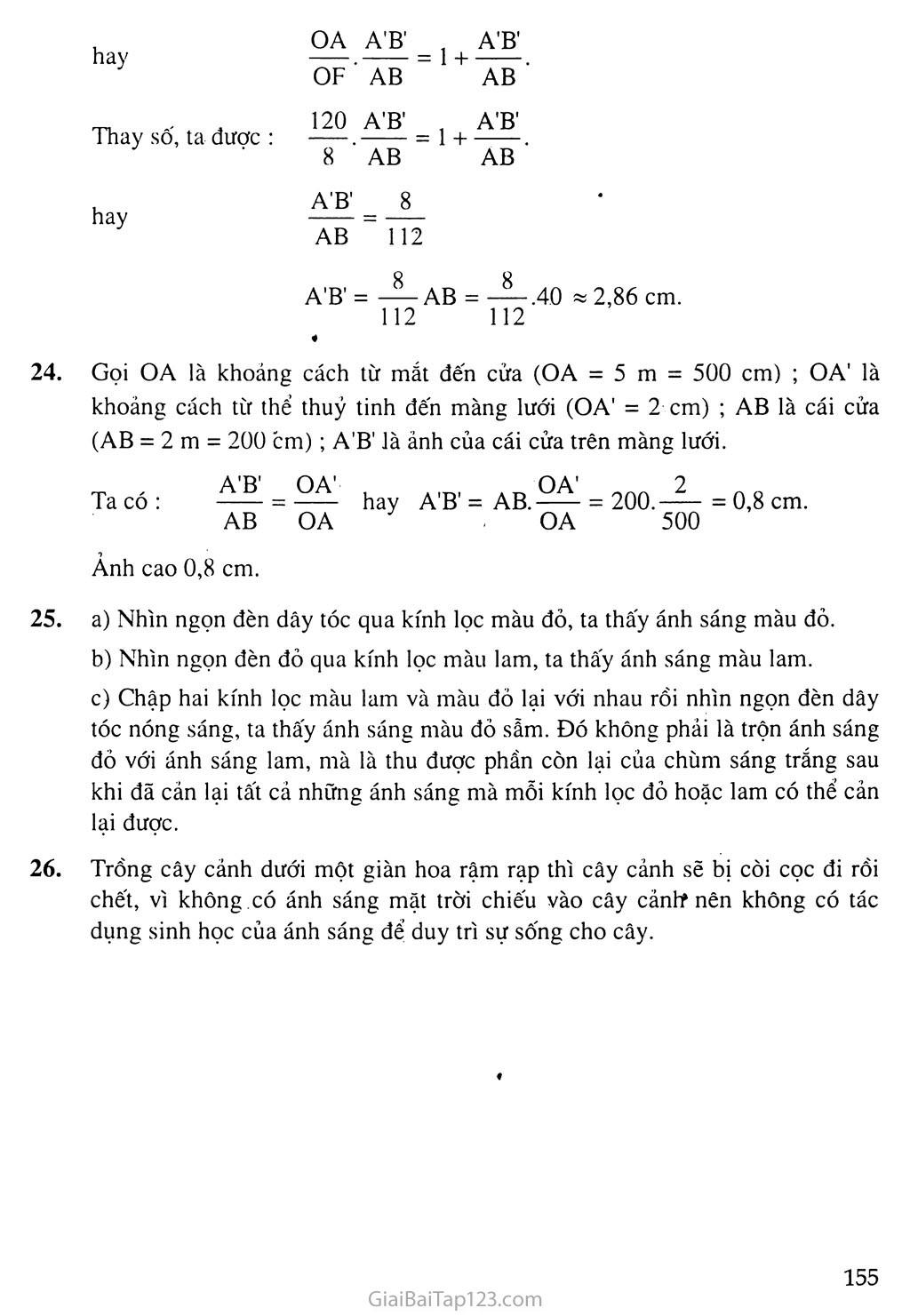 Bài 58: Tổng kết chương III: Quang học trang 4