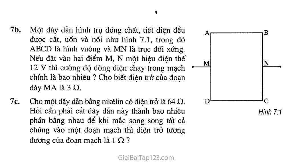 Bài 7: Sự phụ thuộc của điện trở vào chiều dài dây dẫn trang 4