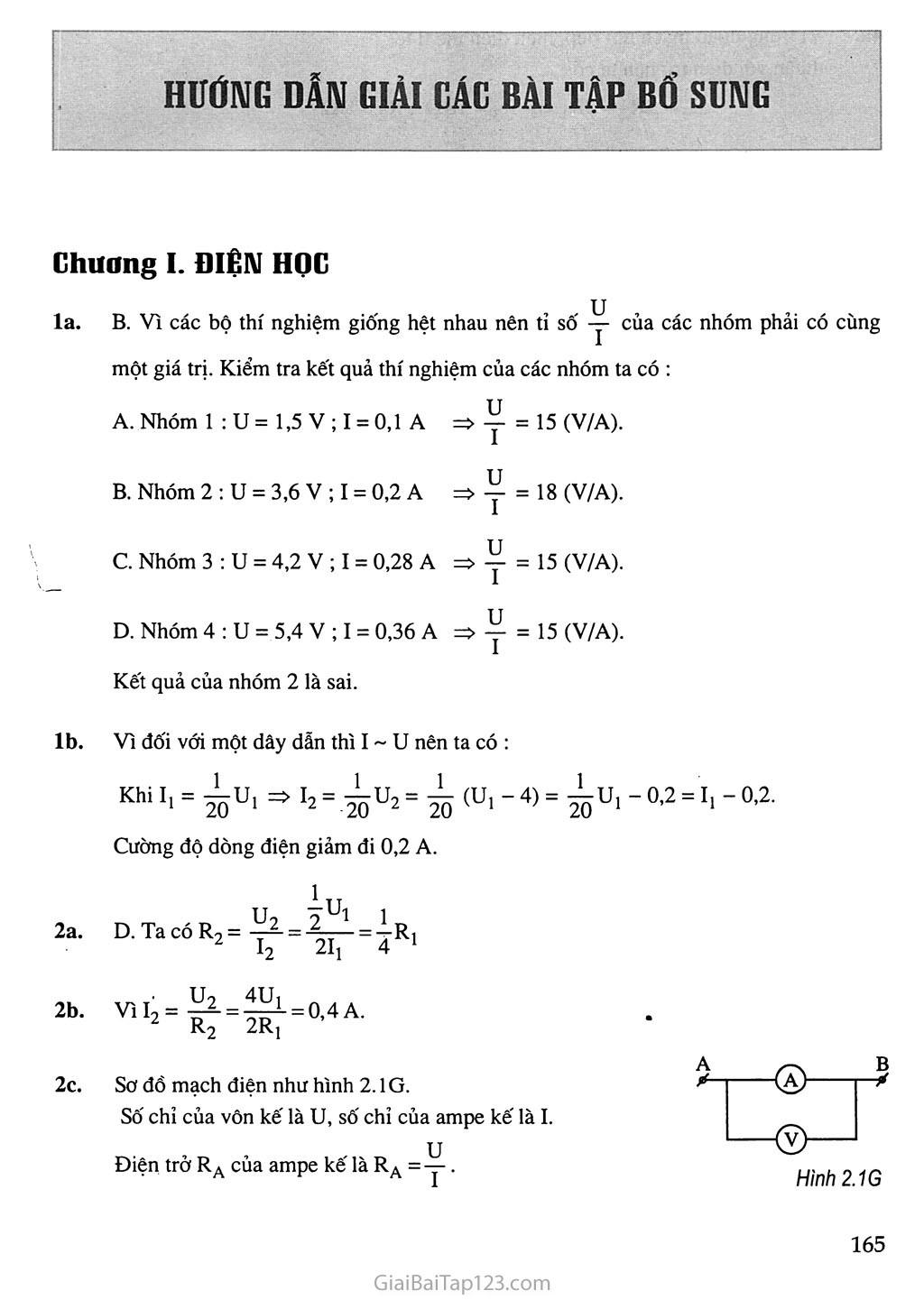 Hướng dẫn giải các bài tập bổ sung trang 1