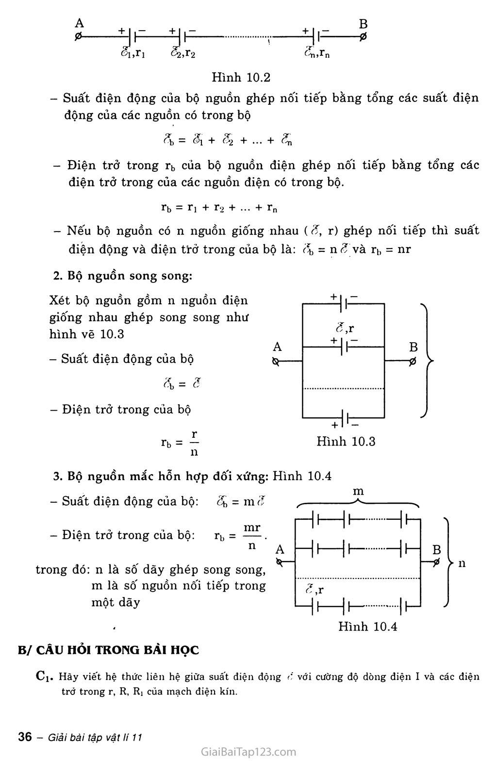 Bài 10: Ghép các nguồn điện thành bộ trang 2