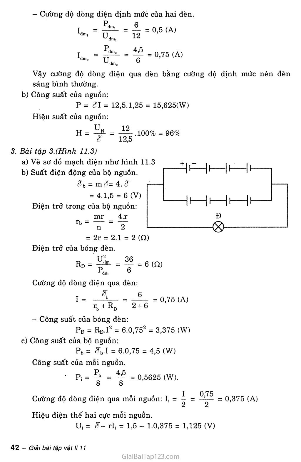 Bài 11: Phương pháp giải một số bài toán về toàn mạch trang 3