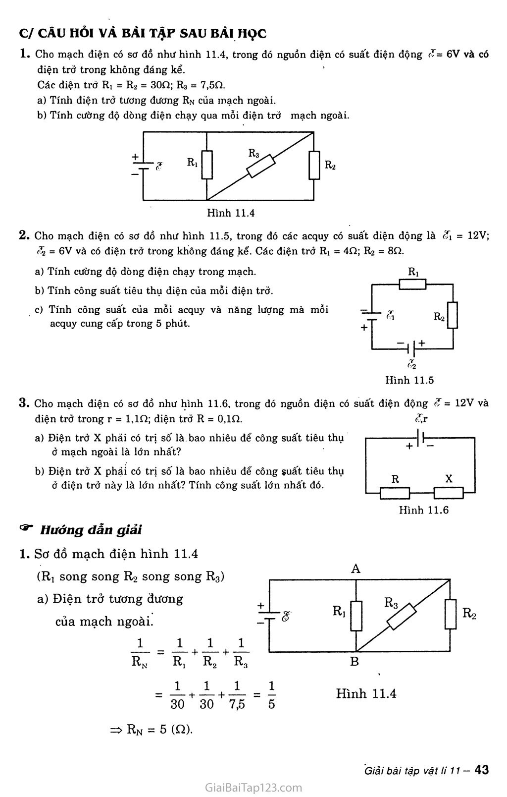 Bài 11: Phương pháp giải một số bài toán về toàn mạch trang 4