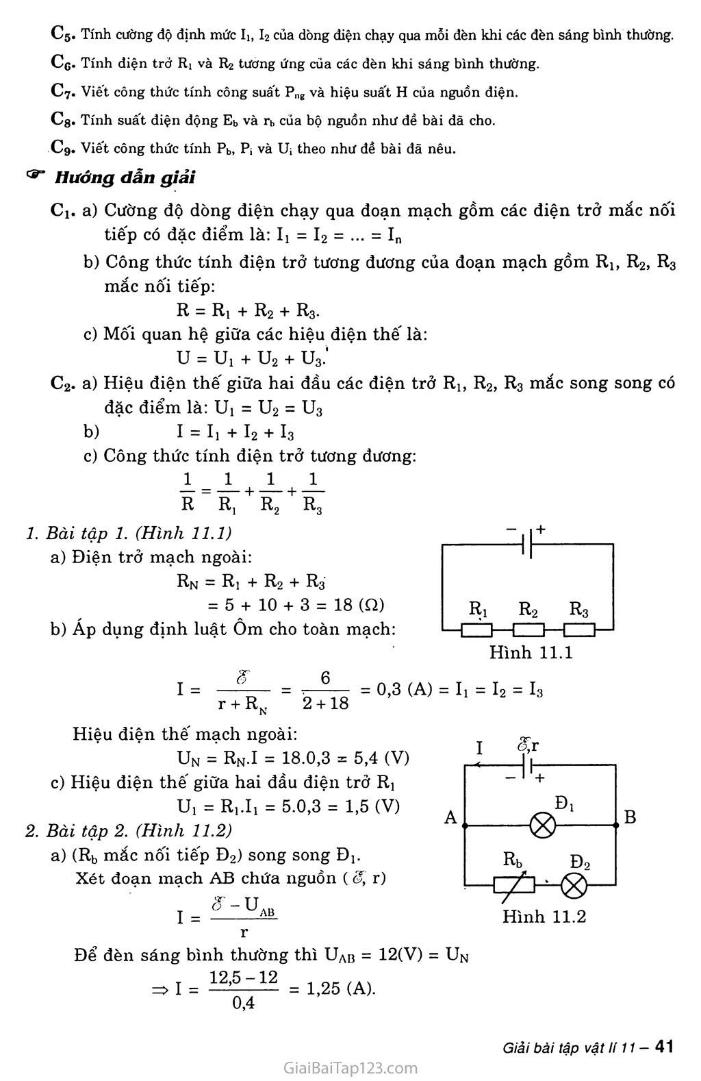 Bài 11: Phương pháp giải một số bài toán về toàn mạch trang 2