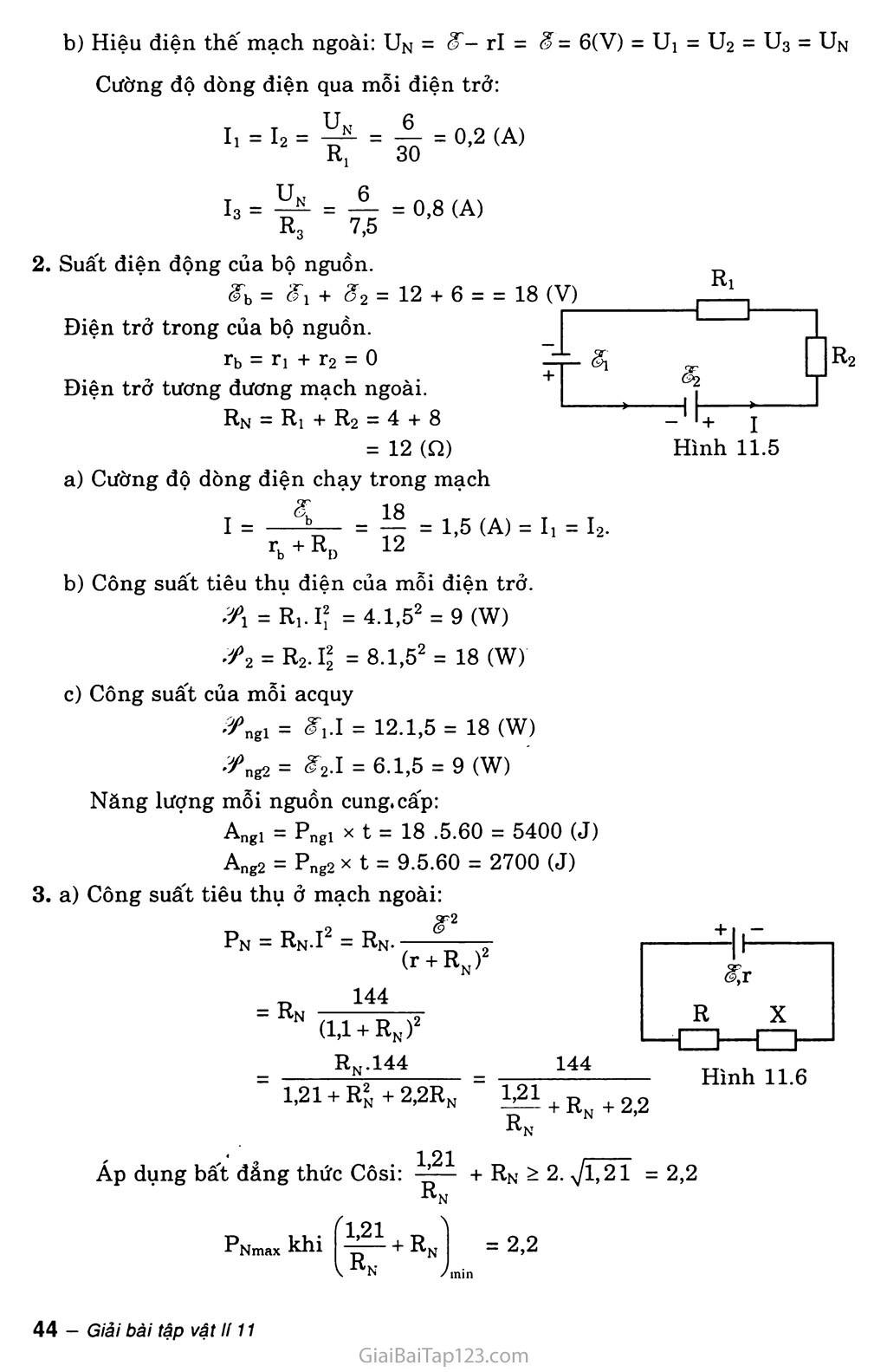 Bài 11: Phương pháp giải một số bài toán về toàn mạch trang 5