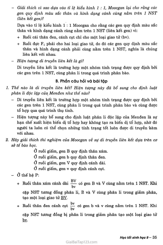 Bài 13. Di truyền liên kết trang 2