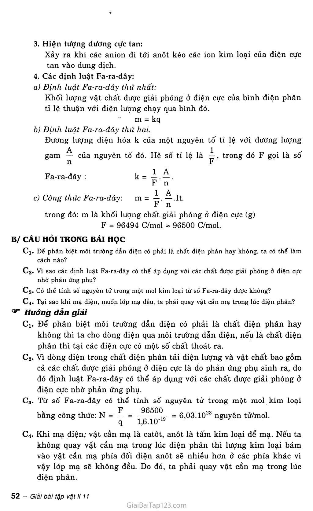 Bài 14: Dòng điện trong chất điện phân trang 2