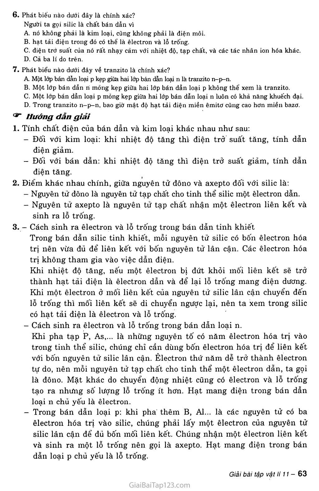 Bài 17: Dòng điện trong chất bán dẫn trang 3
