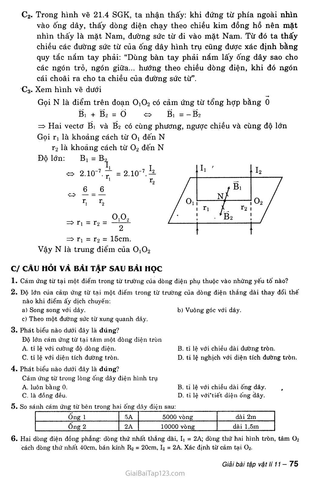 Bài 21: Từ trường của dòng điện chạy trong dây dẫn có hình dạng đặc biệt trang 3