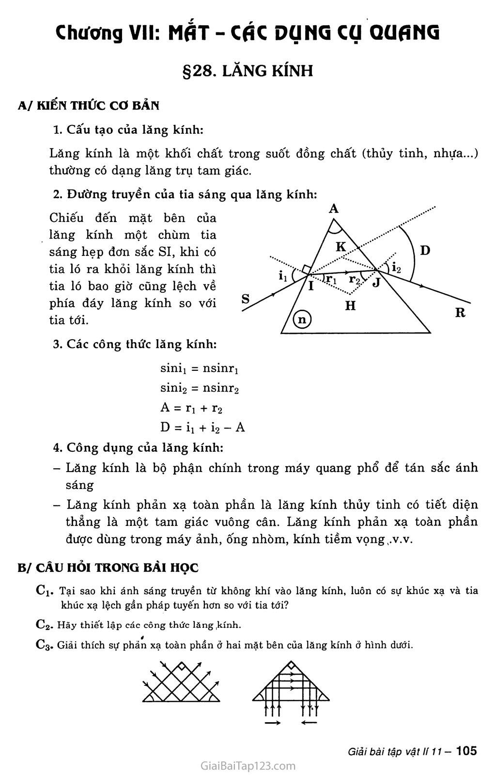 Bài 28: Lăng kính trang 1