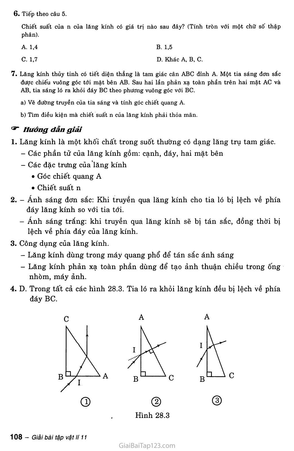 Bài 28: Lăng kính trang 4
