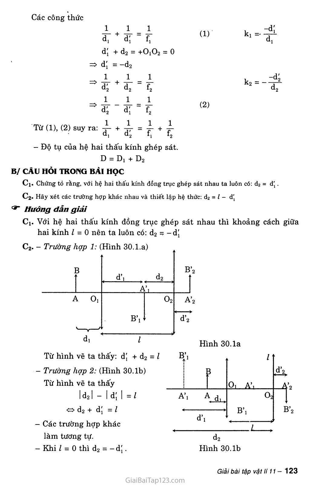 Bài 30: Giải bài toán về hệ thấu kính trang 2