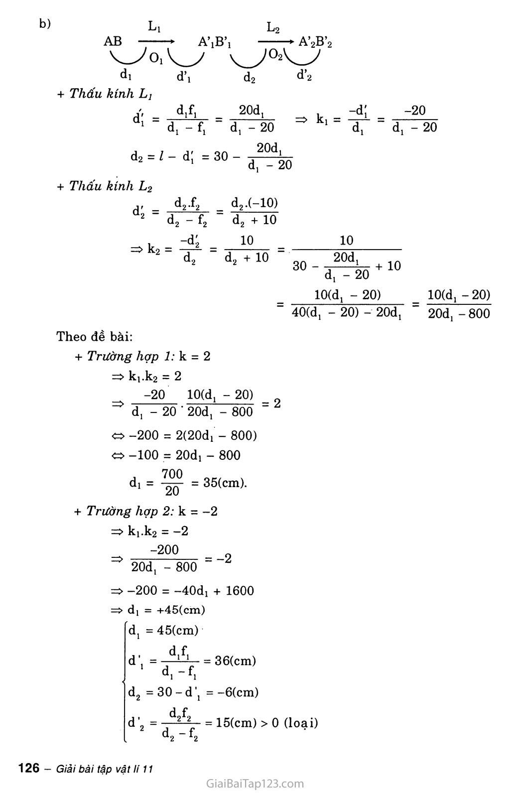 Bài 30: Giải bài toán về hệ thấu kính trang 5