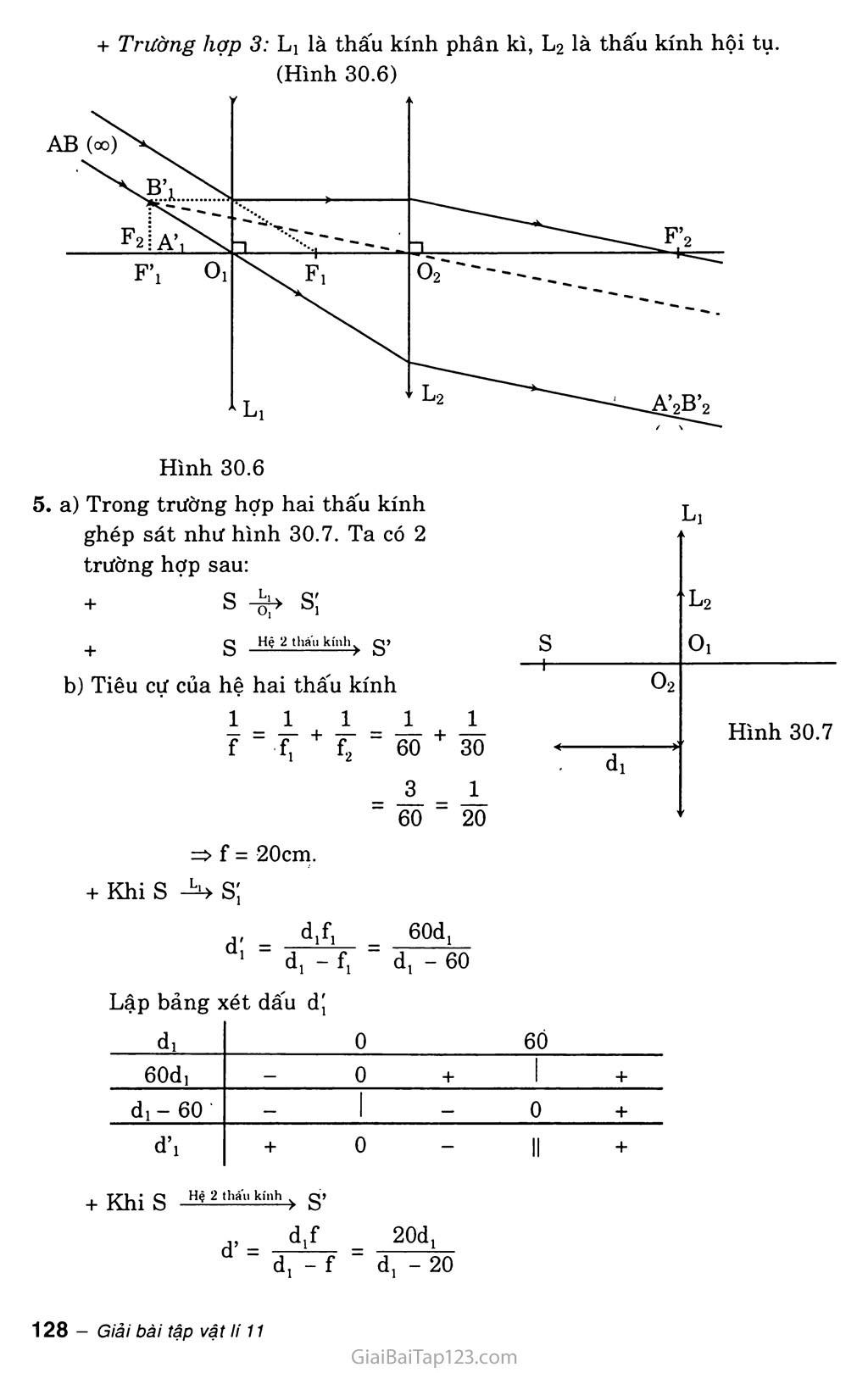 Bài 30: Giải bài toán về hệ thấu kính trang 7