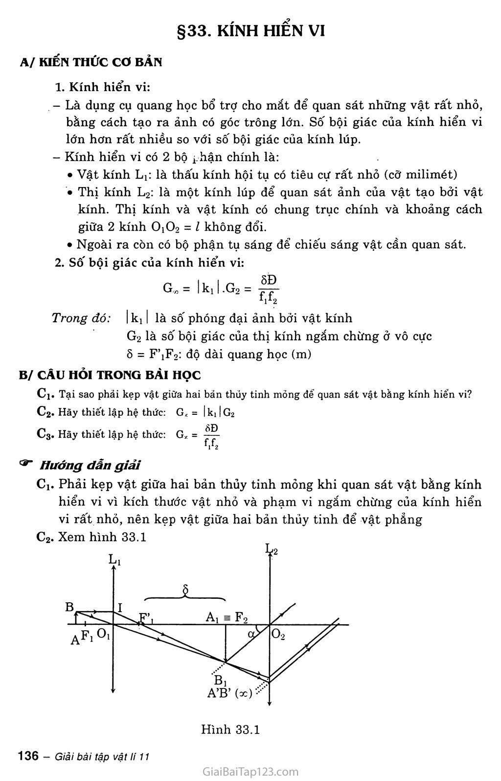 Bài 33: Kính hiển vi trang 1