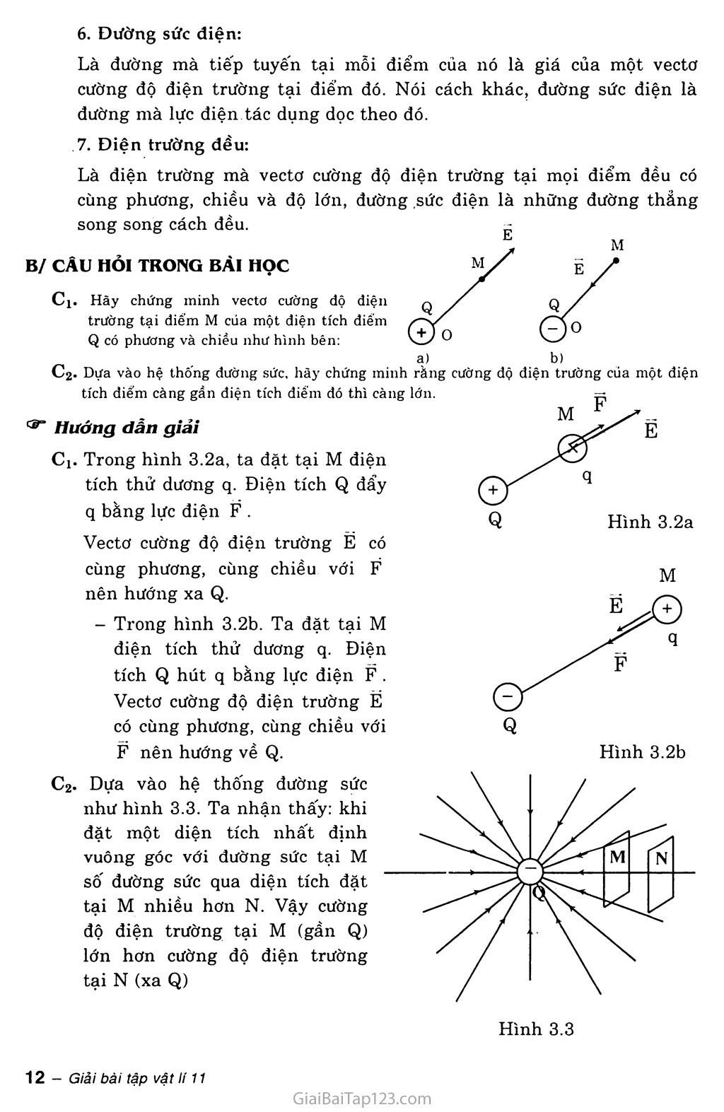 Bài 3: Điện trường và cường độ điện trường. Đường sức điện trang 2