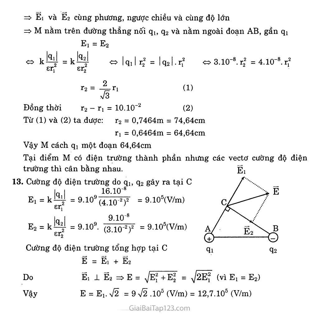 Bài 3: Điện trường và cường độ điện trường. Đường sức điện trang 5