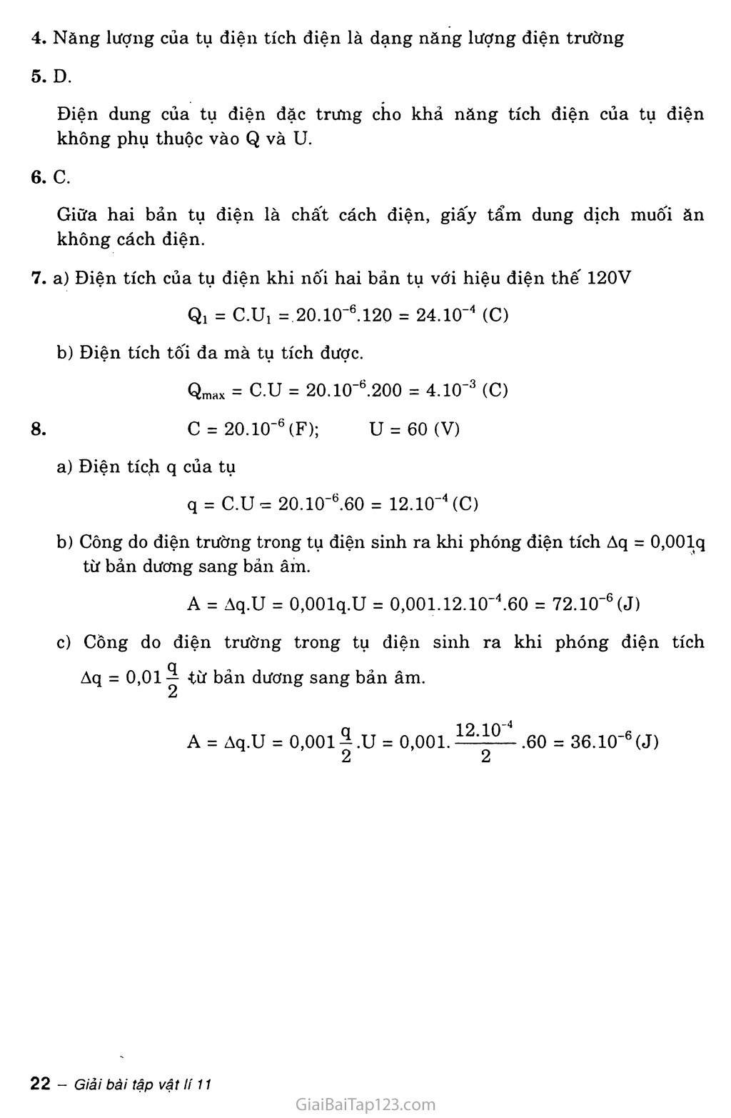Bài 6: Tụ điện trang 3