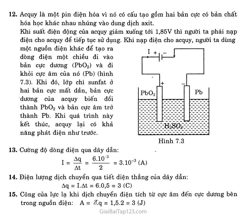 Bài 7: Dòng điện không đổi. Nguồn điện trang 5