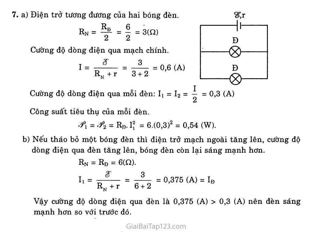 Bài 9: Định luật Ôm đối với toàn mạch trang 5