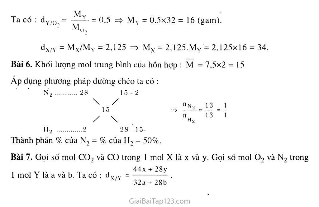 Bài 20: Tỉ khối của chất khí trang 5