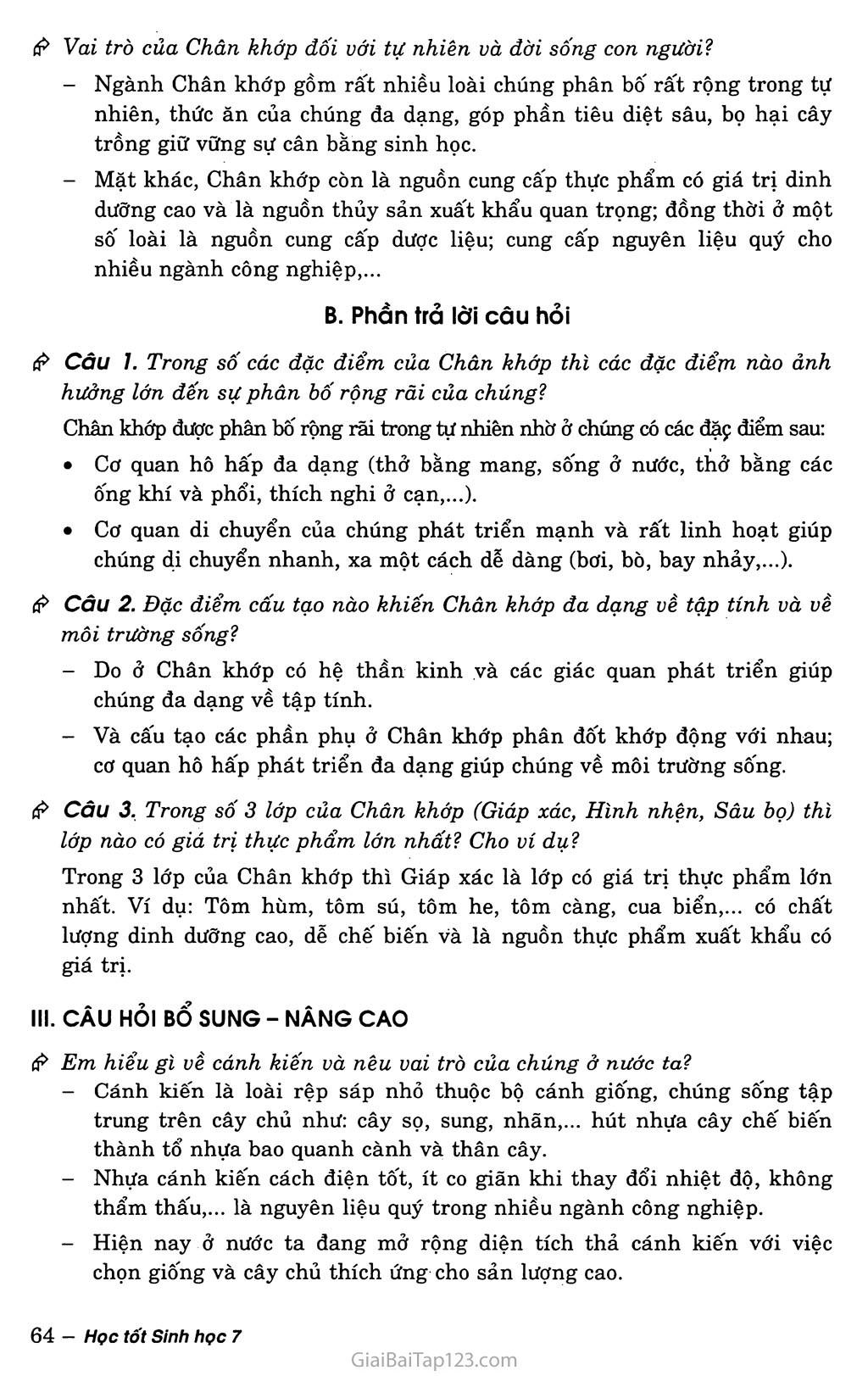 Bài 29: Đặc điểm chung và vai trò của ngành chân khớp trang 3