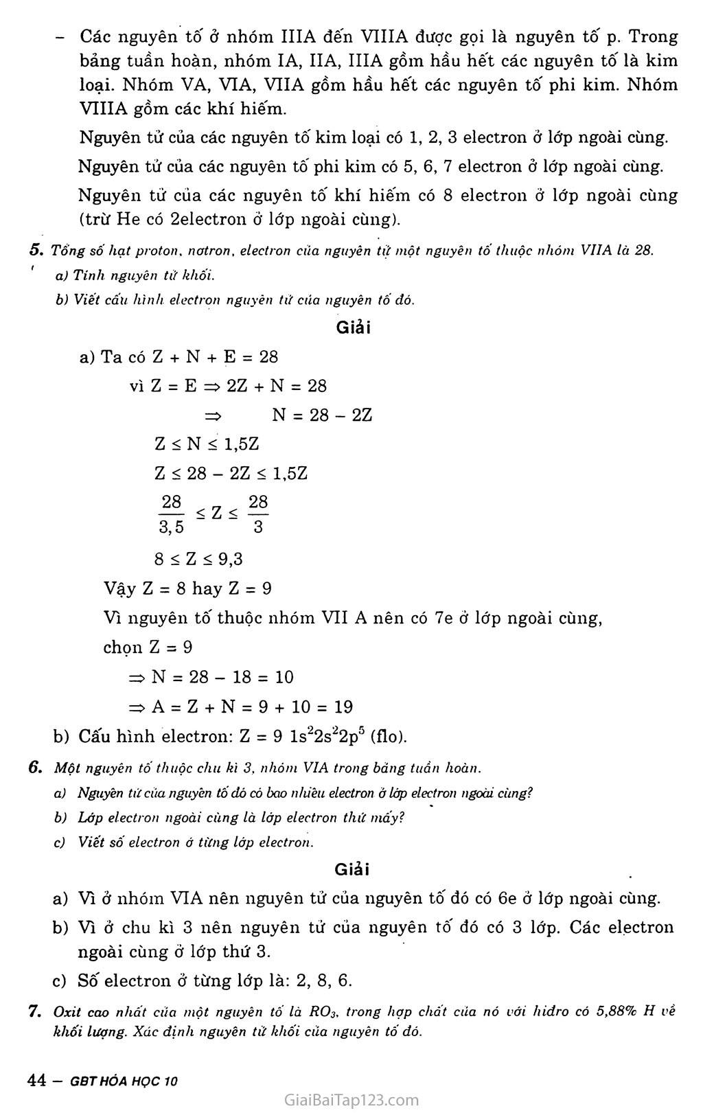 Bài 11: Luyện tập: Bảng tuần hoàn, sự biến đổi tuần hoàn cấu hình electron nguyên tử và tính chất của các nguyên tố hóa học trang 4