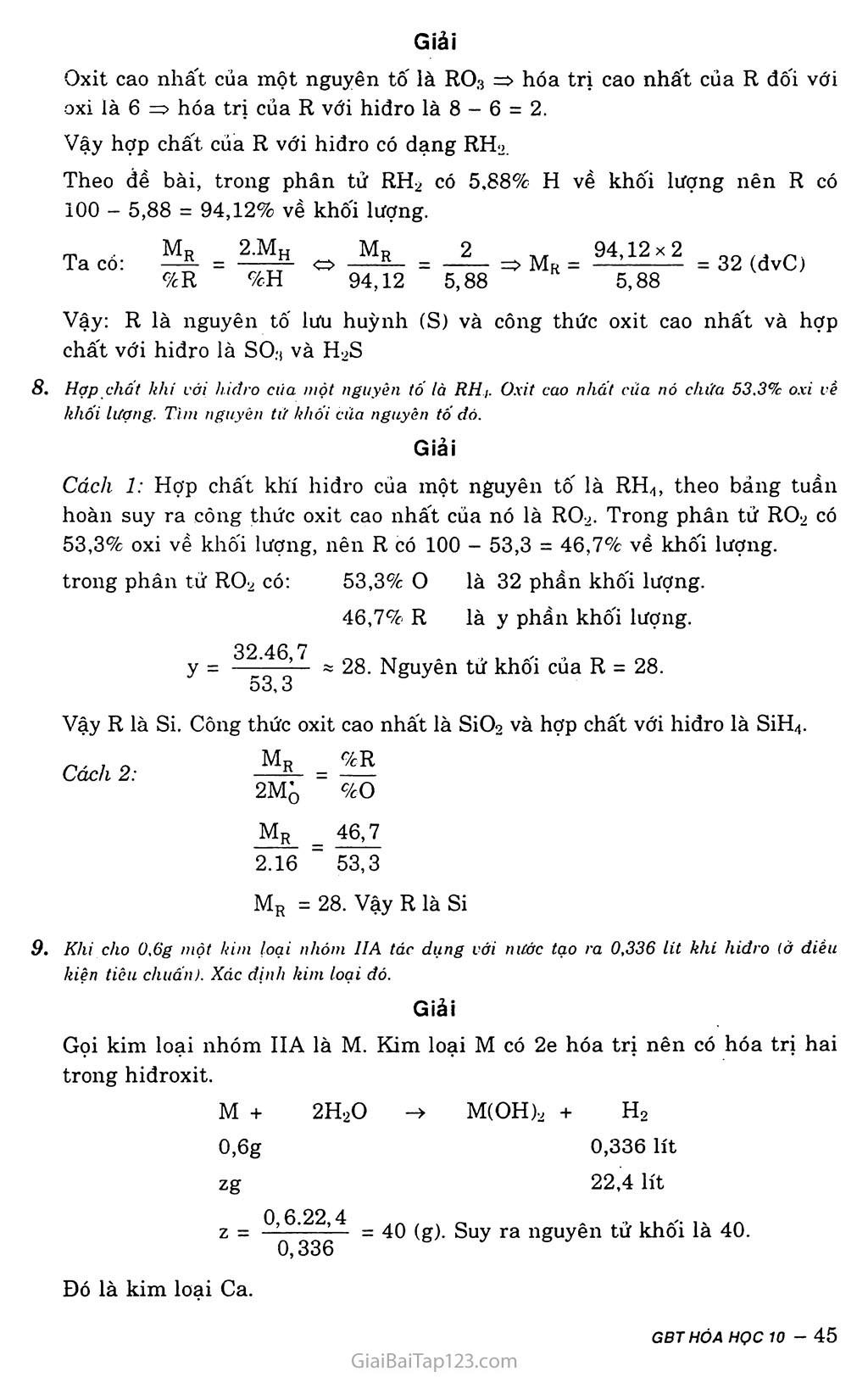 Bài 11: Luyện tập: Bảng tuần hoàn, sự biến đổi tuần hoàn cấu hình electron nguyên tử và tính chất của các nguyên tố hóa học trang 5