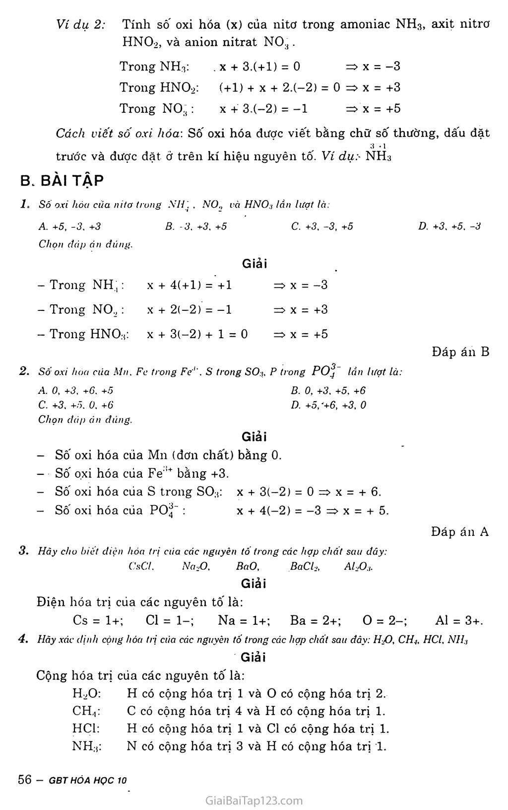 Bài 15: Hóa trị và số oxi hóa trang 2