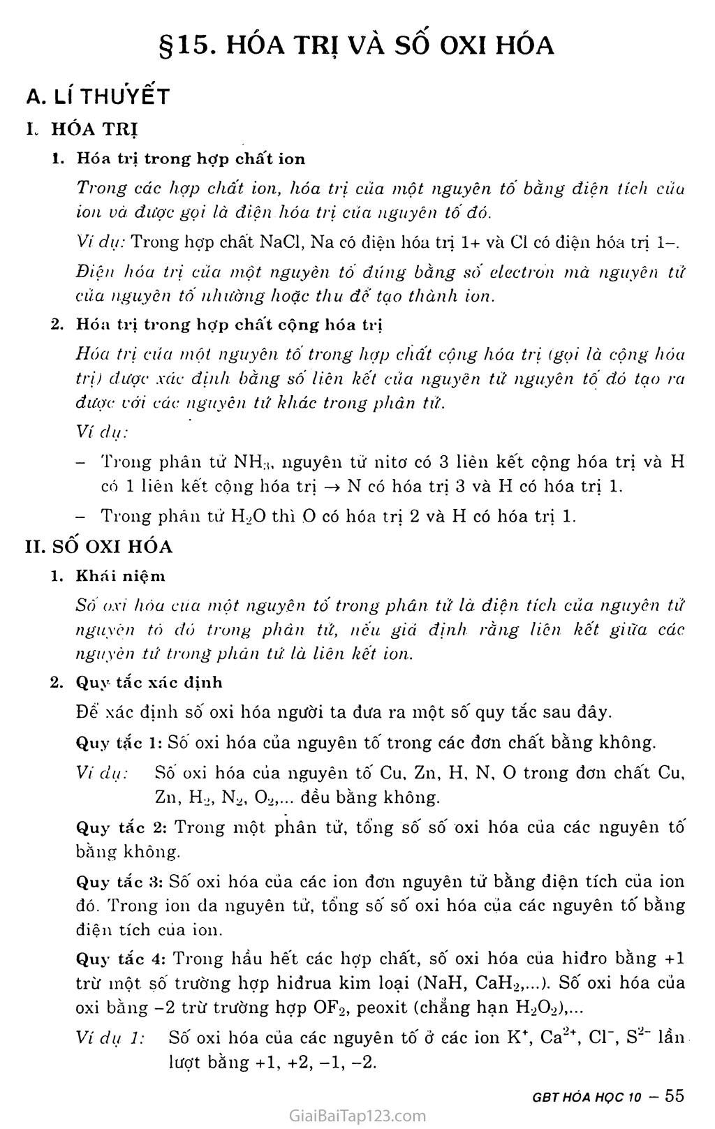 Bài 15: Hóa trị và số oxi hóa trang 1