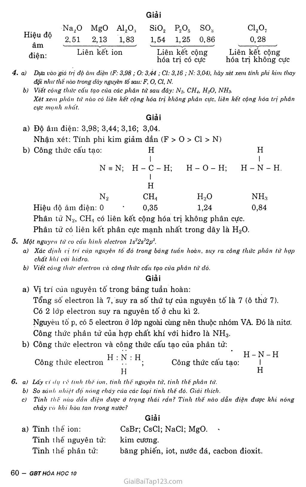 Bài 16: Luyên tập - Liên kết hóa học trang 3