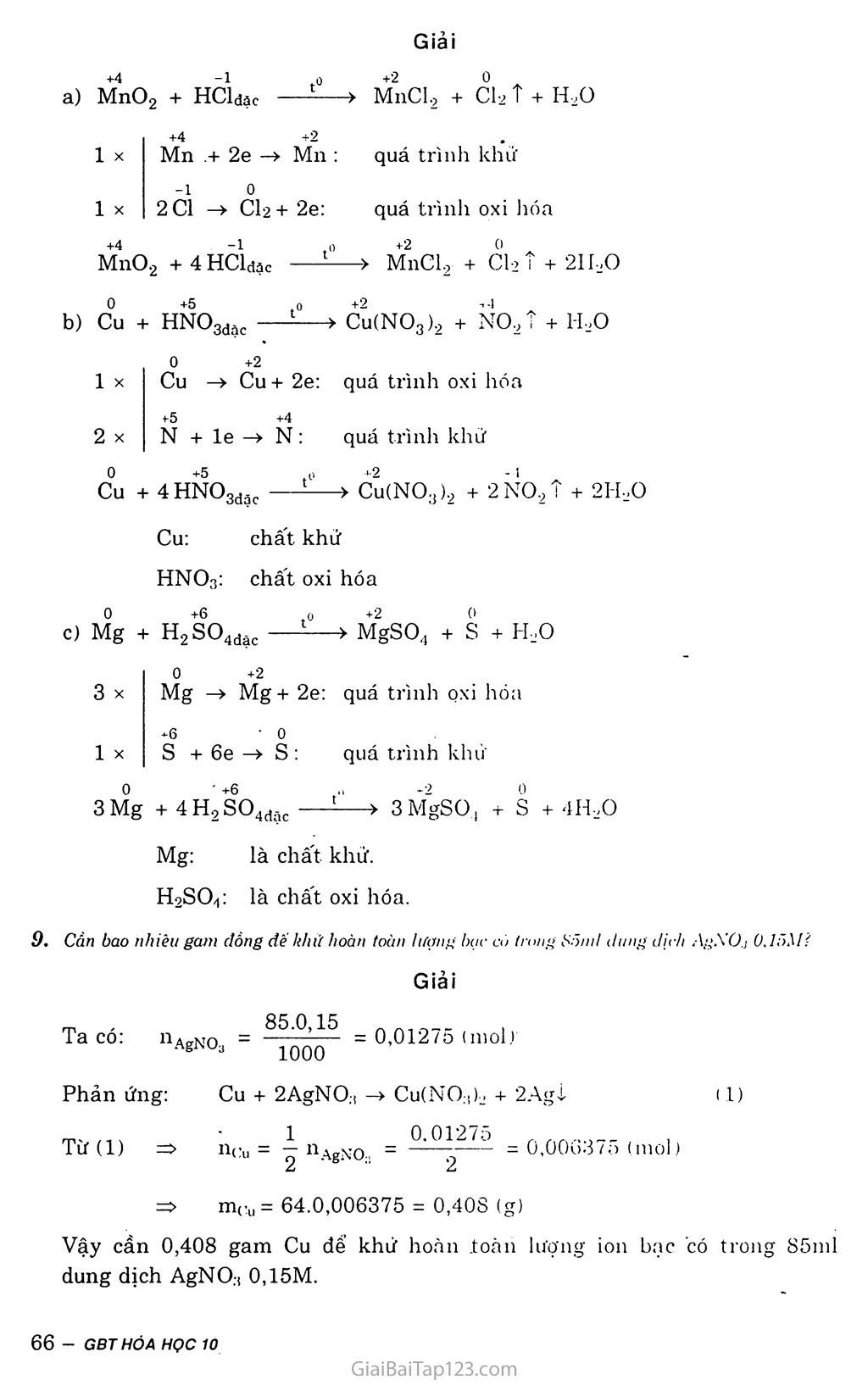 Bài 17: Phản ứng oxi hóa - khử trang 5