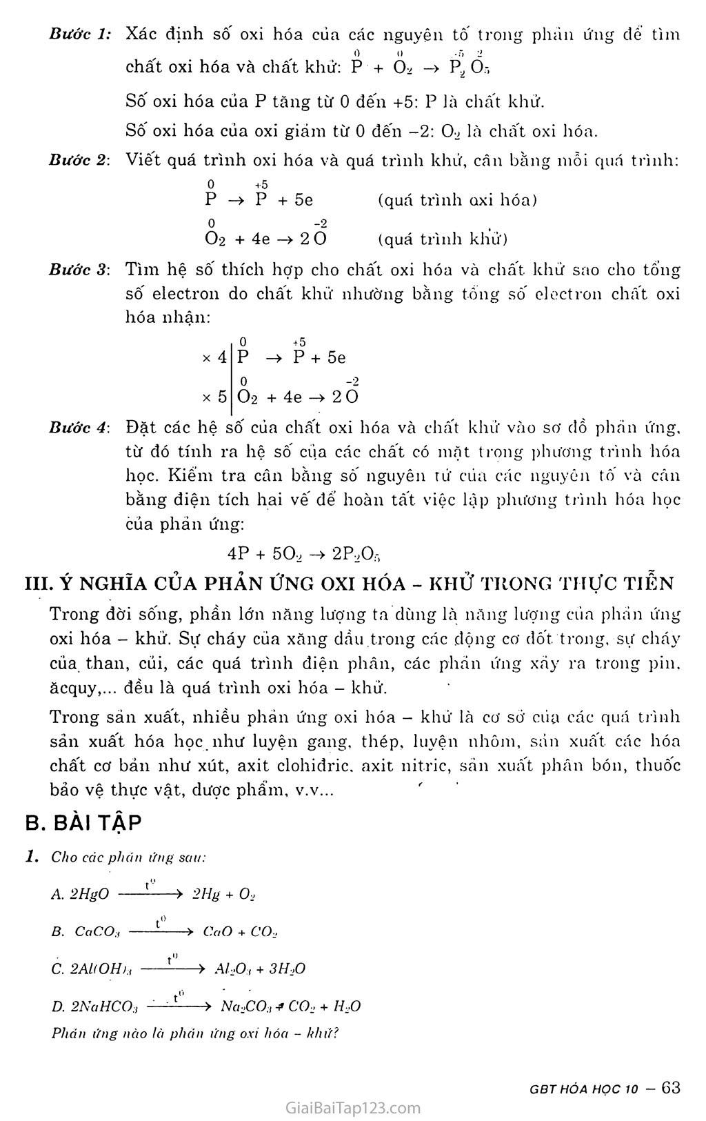 Bài 17: Phản ứng oxi hóa - khử trang 2