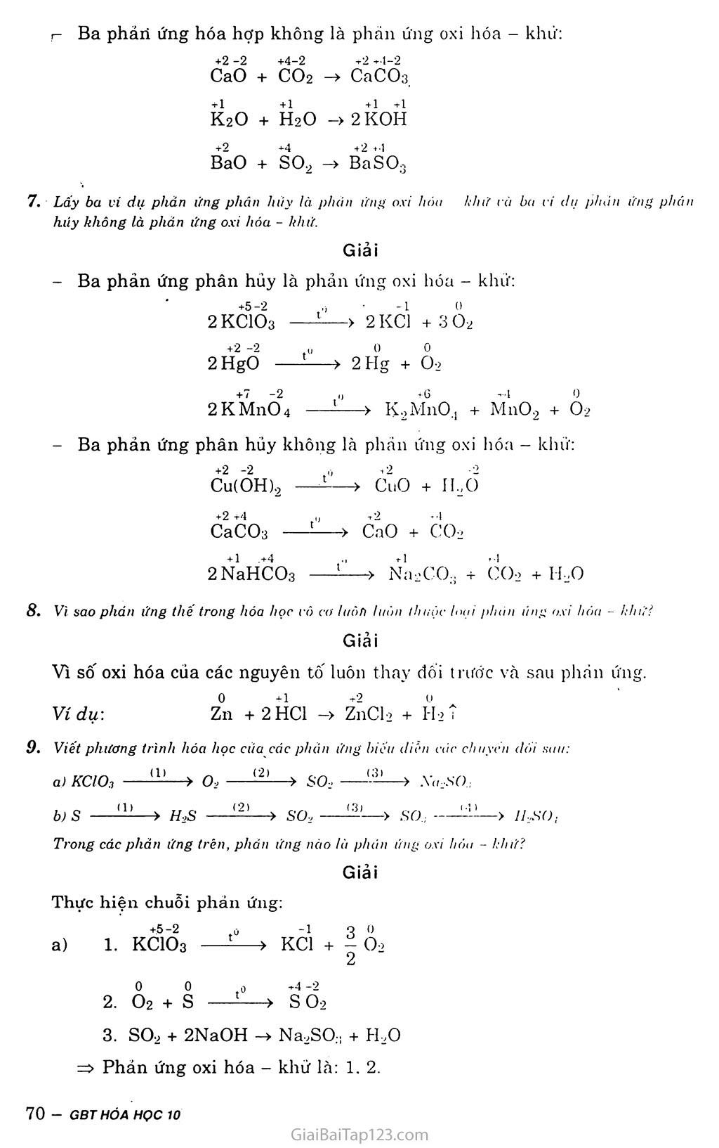 Bài 18: Phân loại phản ứng trong hóa học vô cơ trang 4