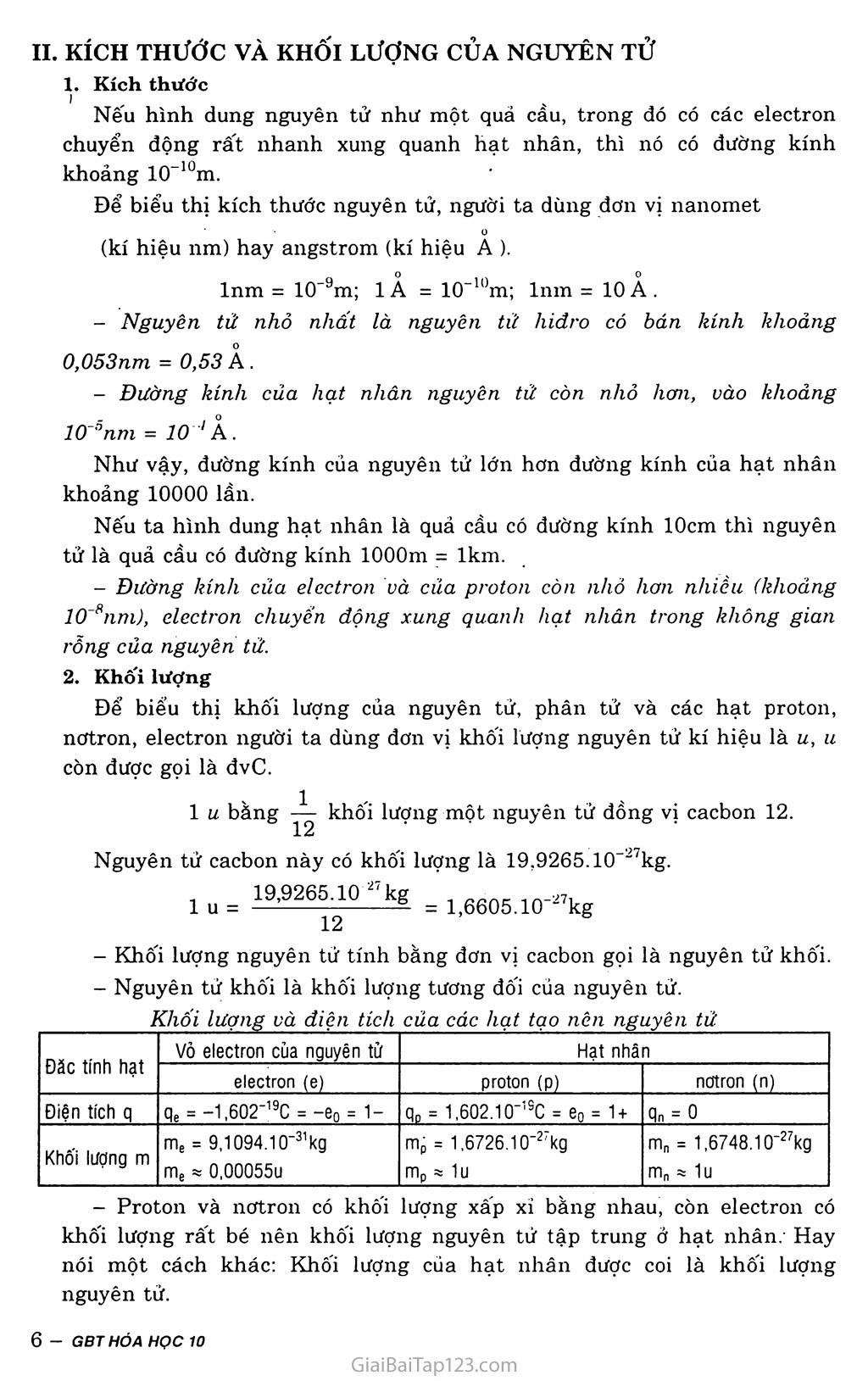 Bài 1: Thành phần nguyên tử trang 2