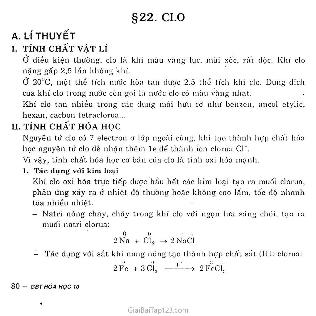 Bài 22: Clo trang 1