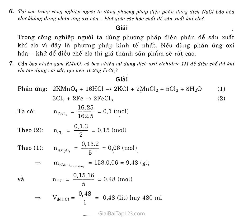 Bài 22: Clo trang 5