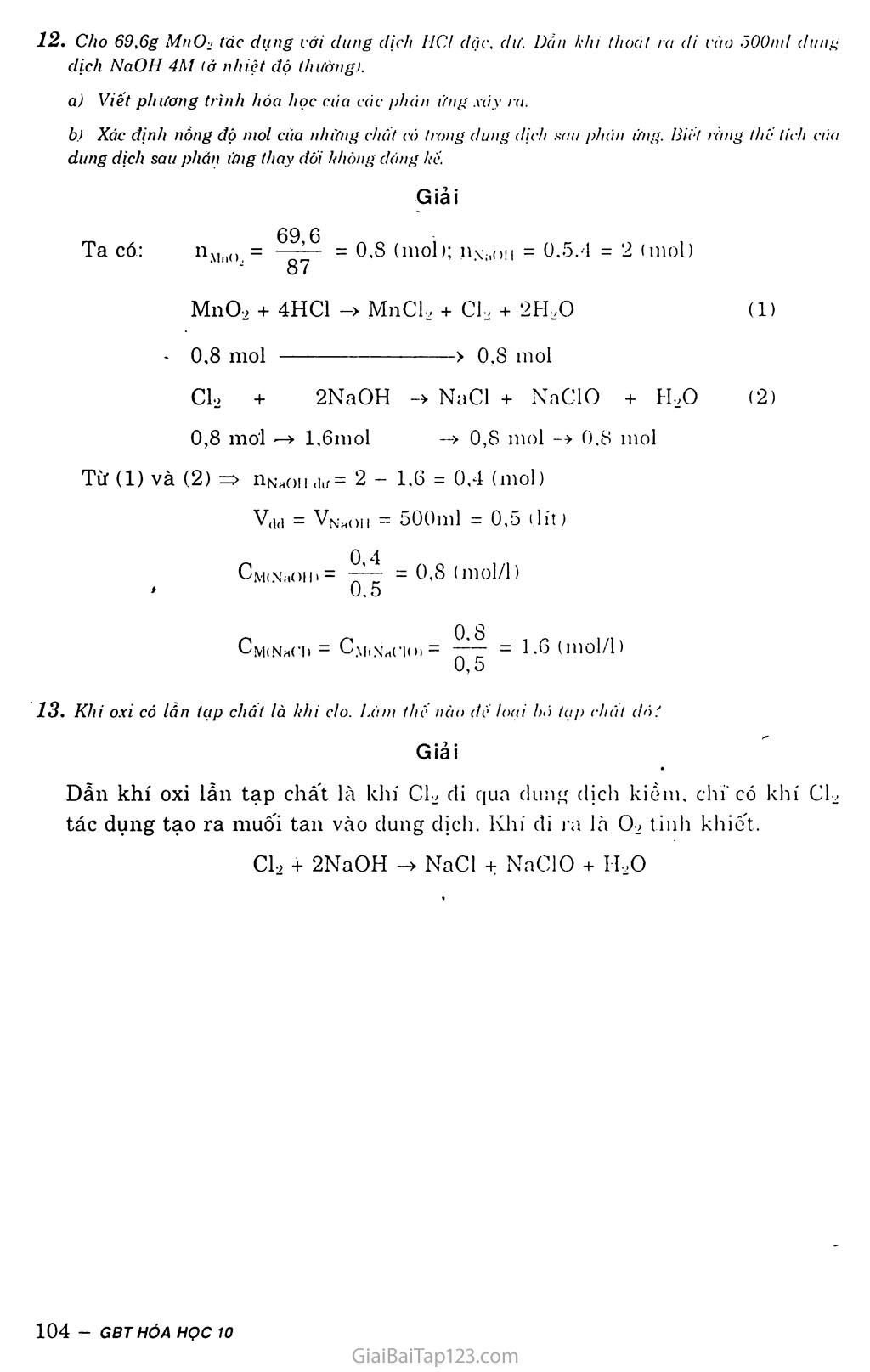 Bài 26: Luyện tập: Nhóm halogen trang 7