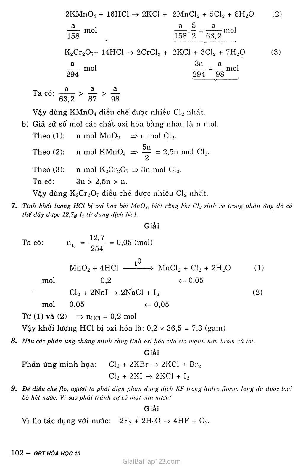 Bài 26: Luyện tập: Nhóm halogen trang 5