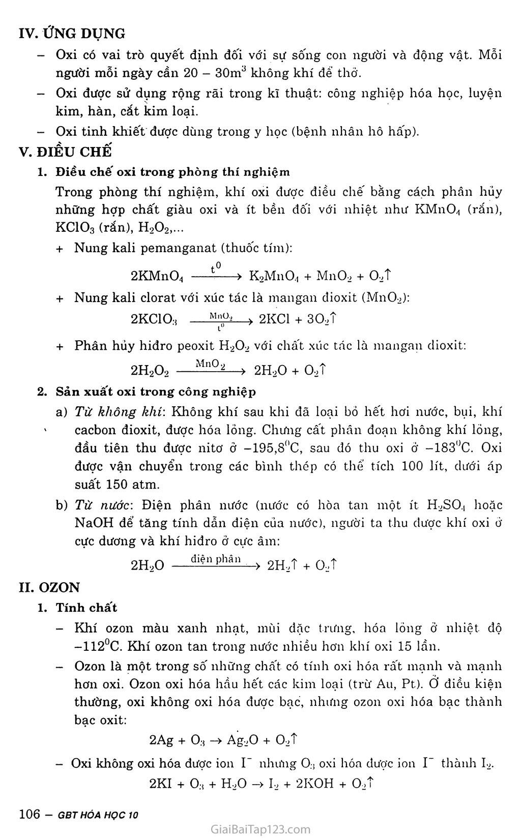Bài 29: Oxit - Ozon trang 2