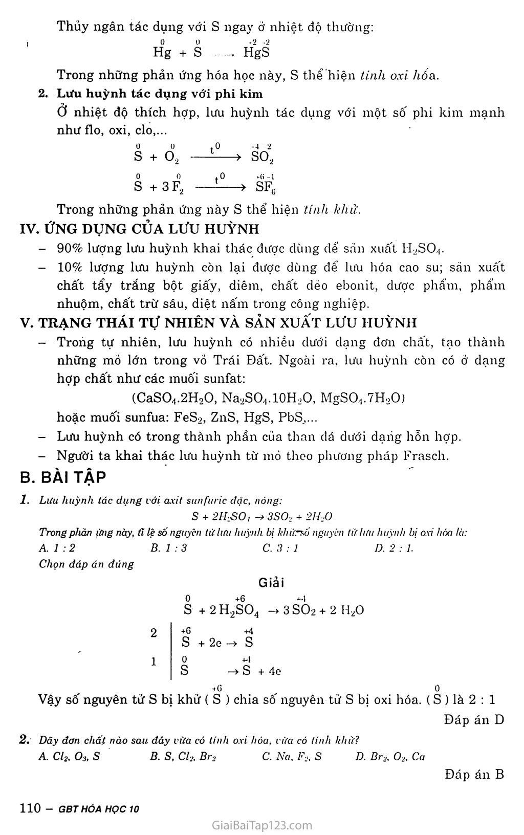 Bài 30: Lưu huỳnh trang 2