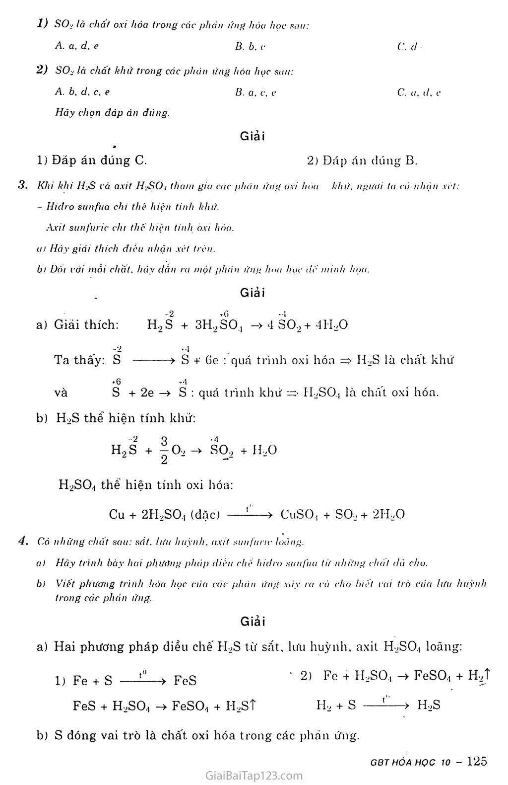 Bài 34: Luyện tập: Oxit và lưu huỳnh trang 3