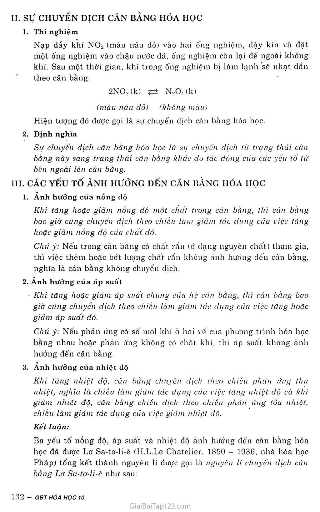 Bài 38: Cân bằng hóa học trang 2