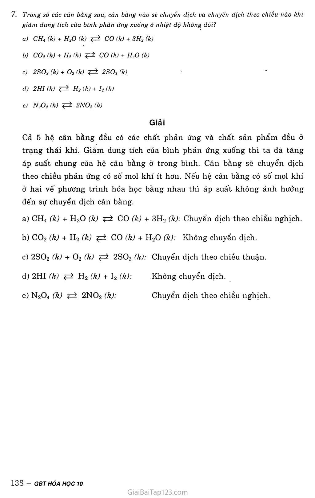 Bài 39: Luyện tập: Tốc độ phản ứng và cân bằng hóa học trang 4