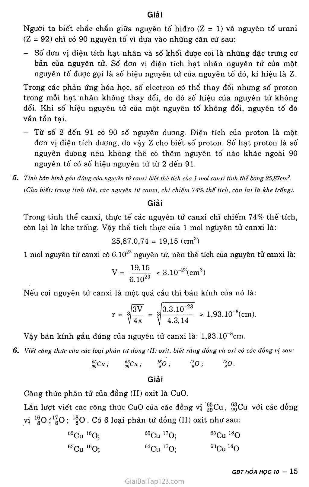 Bài 3: Luyện tập: Thành phần nguyên tử trang 3