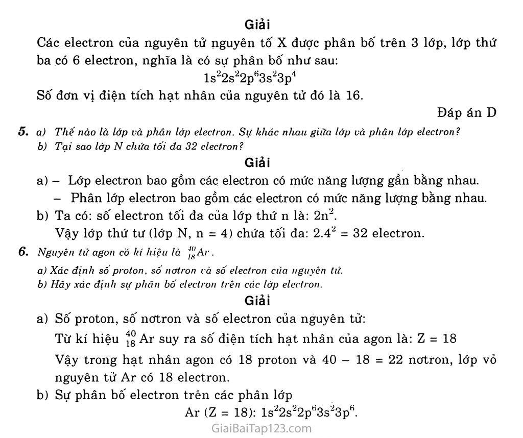 Bài 4: Cấu tạo vỏ nguyên tử trang 3