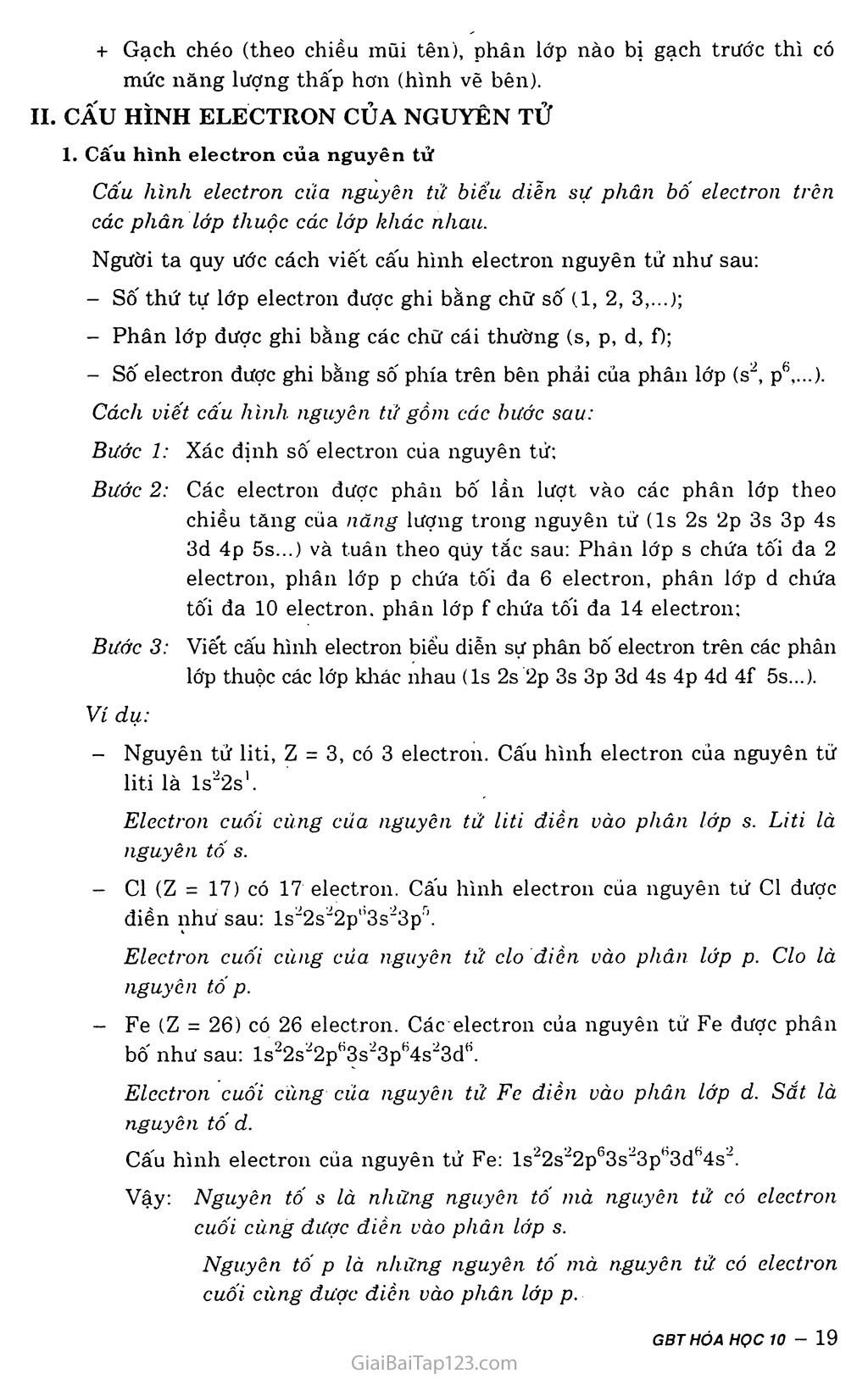 Bài 5: Cấu hình electron nguyên tử trang 2