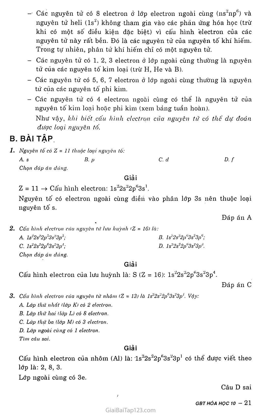 Bài 5: Cấu hình electron nguyên tử trang 4